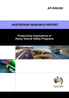 Cover of Productivity Implications of Heavy Vehicle Safety Programs