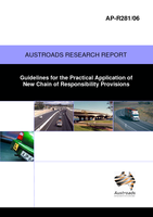 Cover of Guidelines for the Practical Application of New Chain of Responsibility Provisions