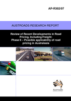 Review of Recent Developments in Road Pricing, Including Freight Phase 2: Possible applicability of road pricing in Australasia