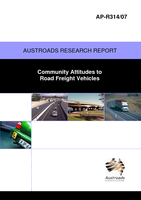 Community Attitudes to Road Freight Vehicles