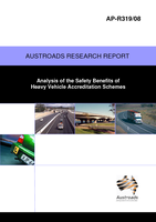 Cover of Analysis of the Safety Benefits of Heavy Vehicle Accreditation Schemes
