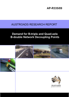 Cover of Demand for B-triple and Quad-axle B-double Network Decoupling Points