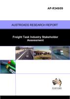 Freight Task Industry Stakeholder Assessment
