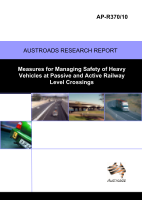 Cover of Measures for Managing Safety of Heavy Vehicles at Passive and Active Railway Level Crossings