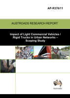 Cover of Impact of Light Commercial Vehicles / Rigid Trucks in Urban Networks: Scoping Study