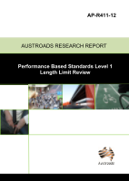 Performance Based Standards Level 1 Length Limit Review