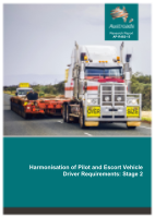Cover of Harmonisation of Pilot and Escort Vehicle Driver Requirements: Stage 2