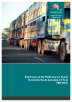 Cover of Expansion of the Performance Based Standards Route Assessment Tool (PBS RAT)