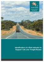 Identification of a Risk Indicator to Support 'Life Line' Freight Routes