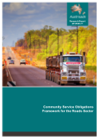 Cover of Community Service Obligations Framework for the Roads Sector