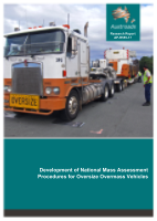 Cover of Development of National Mass Assessment Procedures for Oversize Overmass Vehicles