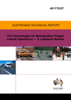 Cover of ITS Technologies for Metropolitan Freight Vehicle Operations: A Literature Review