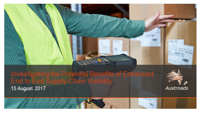 Cover of Webinar: Investigating the Potential Benefits of Enhanced End to End Supply Chain Visibility