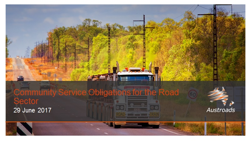 Webinar: Community Service Obligations Framework for the Roads Sector