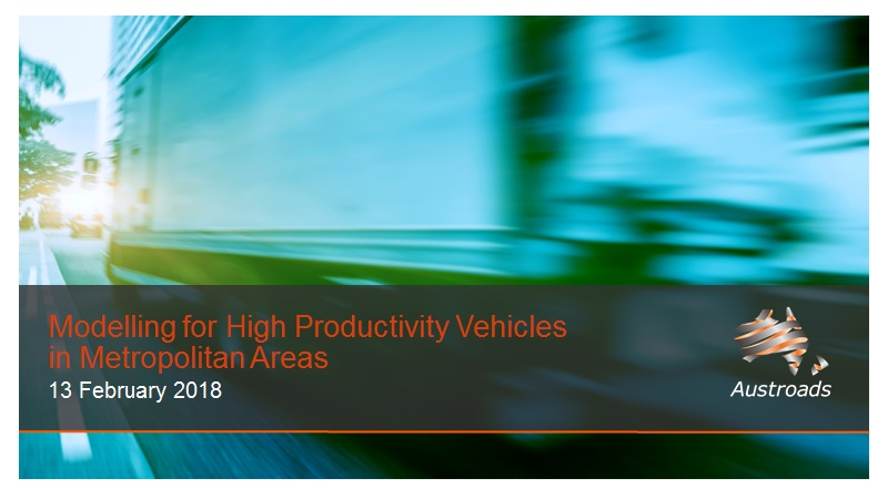 Cover of Webinar: Modelling of High Productivity Vehicles in Metropolitan Areas