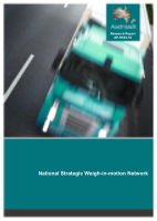 Cover of National Strategic Weigh-in-motion Network
