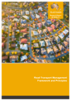 Cover of Road Transport Management Framework and Principles