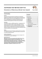Extractions of Bituminous Binder from Asphalt