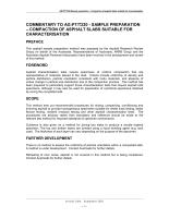 Cover of Sample Preparation - Compaction of Asphalt Slabs