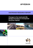 Changes to the Austroads Mix Design Procedures to incorporate Recycled Asphalt