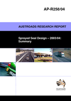 Cover of Sprayed Seal Design 2003/04: Summary
