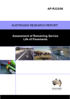 Cover of Assessment of Remaining Service Life of Pavements