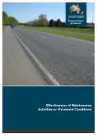 Cover of Effectiveness of Maintenance Activities on Pavement Conditions