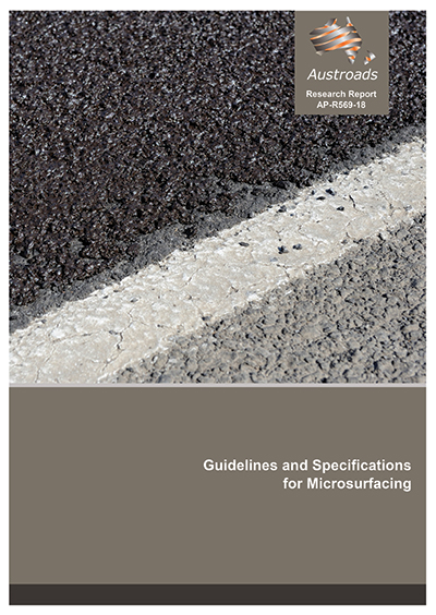 Cover of Guidelines and Specifications for Microsurfacing