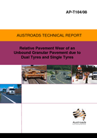 Cover of Relative Pavement Wear of an Unbound Granular Pavement due to Dual Tyres and Single Tyres
