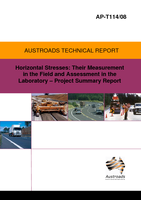 Cover of Horizontal Stresses: Their Measurement in the Field and Assessment in the Laboratory: Project Summary Report