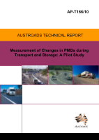 Cover of Measurement of Changes in PMBs during Transport and Storage: A Pilot Study.