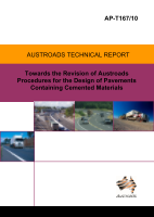 Cover of Towards the Revision of Austroads Procedures for the Design of Pavements Containing Cemented Materials