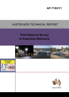 Cover of Third National Survey of Australian Bitumens
