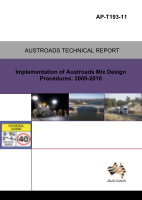 Cover of Implementation of Austroads Mix Design Procedures: 2009-2010