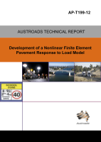 Cover of Development of a Nonlinear Finite Element Pavement Response to Load Model