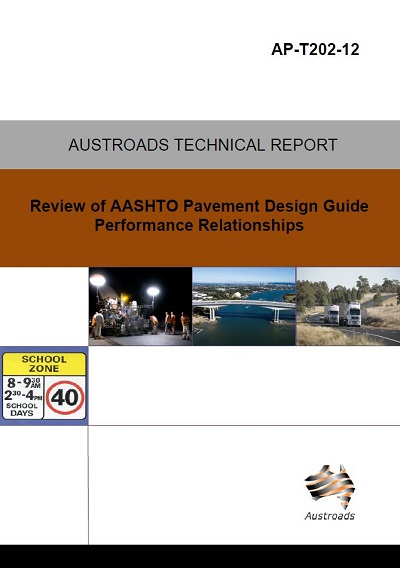 Cover of Review of AASHTO Pavement Design Guide Performance Relationships