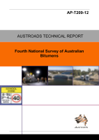 Cover of Fourth National Survey of Australian Bitumens