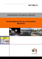 Fourth National Survey of Australian Bitumens