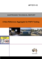 Cover of A New Reference Aggregate for PAFV Testing
