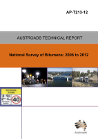 Cover of National Survey of Bitumens: 2006 to 2012