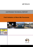 Cover of Field Validation of Warm Mix Asphalt Pavements