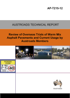 Cover of Review of Overseas Trials of Warm Mix Asphalt Pavements and Current Usage by Austroads Members