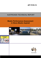 Cover of Mastic Performance Assessment in Stone Mastic Asphalt