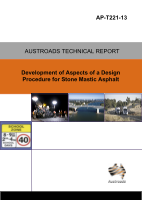 Cover of Development of Aspects of a Design Procedure for Stone Mastic Asphalt