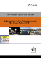 Cover of Implementation of the Austroads Asphalt Mix Design Method: 2010-11