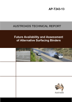 Cover of Future Availability and Assessment of Alternative Surfacing Binders