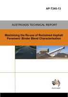 Cover of Maximising the Re-use of Reclaimed Asphalt Pavement: Binder Blend Characterisation