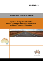 Cover of Improved Design Procedures for Asphalt Pavements: Pavement Temperature and Load Frequency Estimation