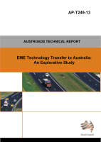 Cover of EME Technology Transfer to Australia: An Explorative Study