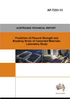 Cover of Prediction of Flexural Strength and Breaking Strain of Cemented Materials: Laboratory Study